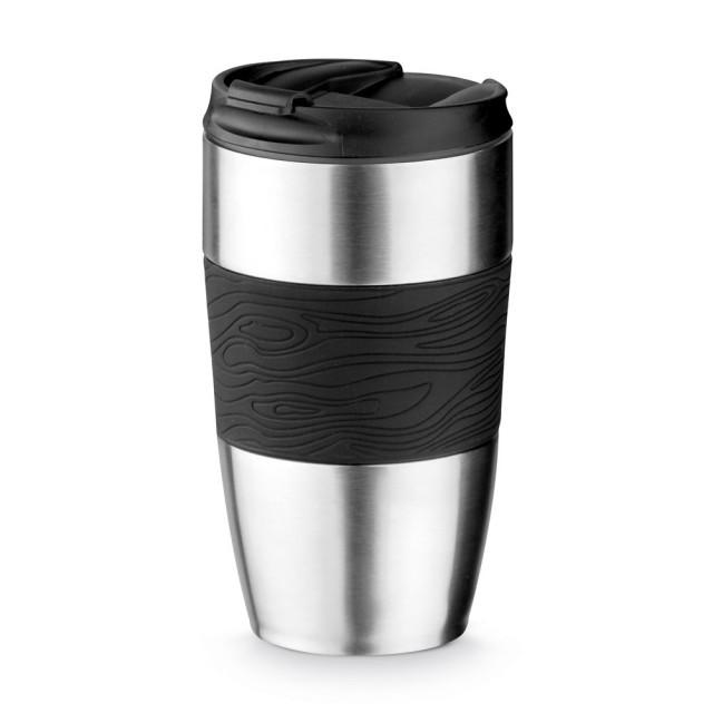 Vasos termo personalizados de acero color negro primera vista