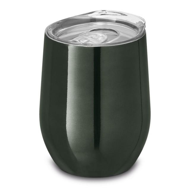 Vasos de acero personalizados color titanio