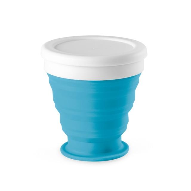 Vasos plegables personalizados color azul cielo