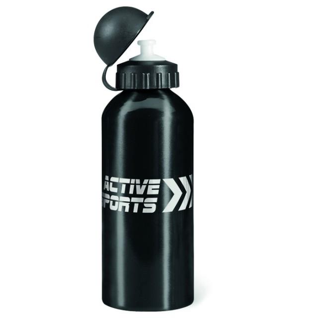 Botella corporativa aluminio negro