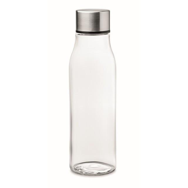 Botellas de cristal promocionales en color color transparente