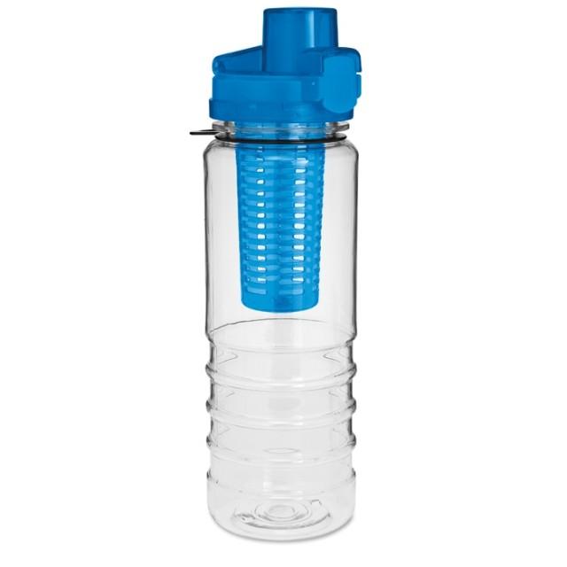 Botellas tritán con logotipo azul