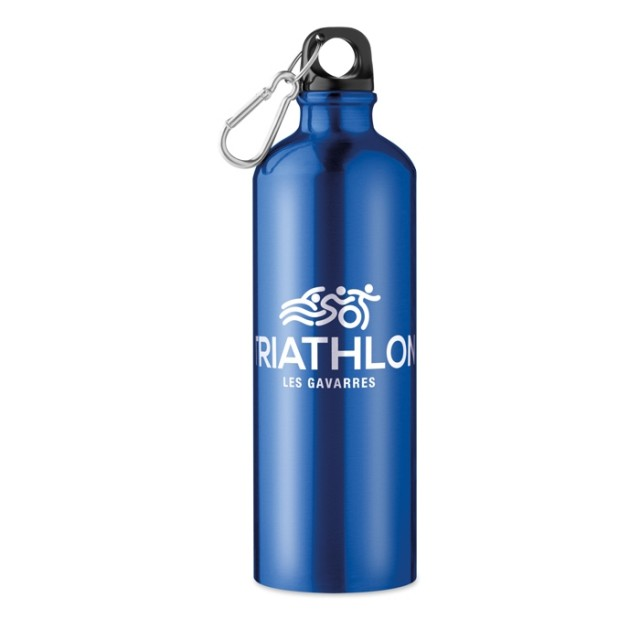 Botellas publicitarias aluminio azul