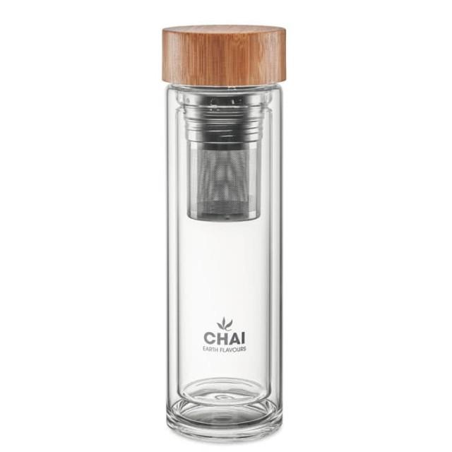 Botellas de vidrio con infusor personalizadas