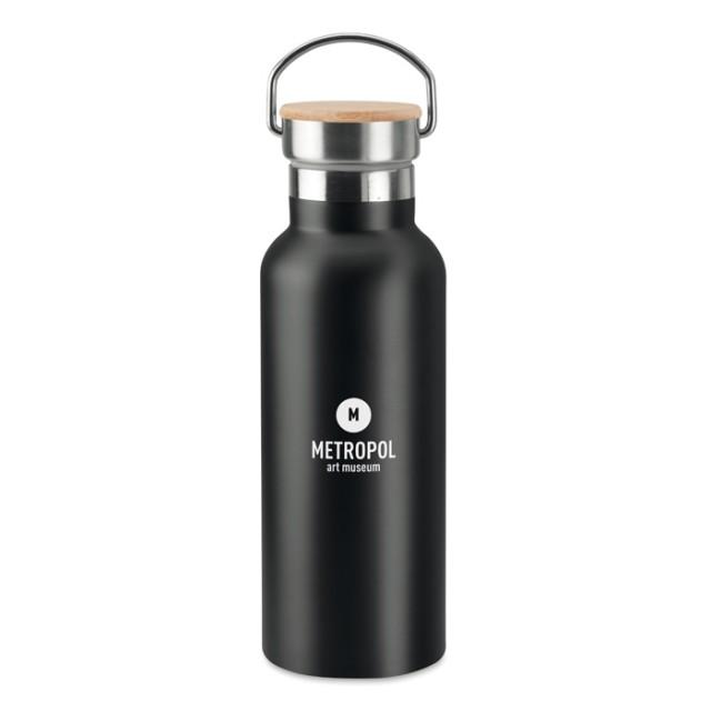 Botellas acero personalizadas negro