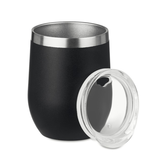 Vaso de acero personalizado negro