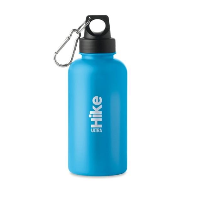 Botellas publicidad plástico turquesa