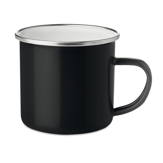 Tazas metálicas personalizadas negro