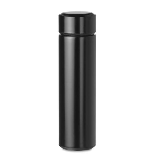 Termo personalizado con termómetro color negro