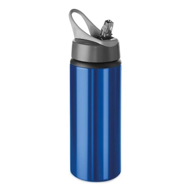 Botella deportiva aluminio personalizada azul