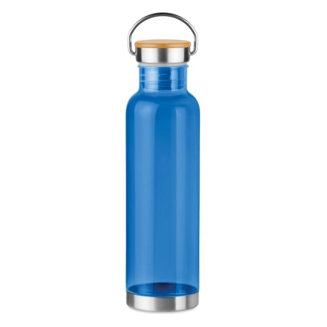 Botellas tritán para personalizar azul