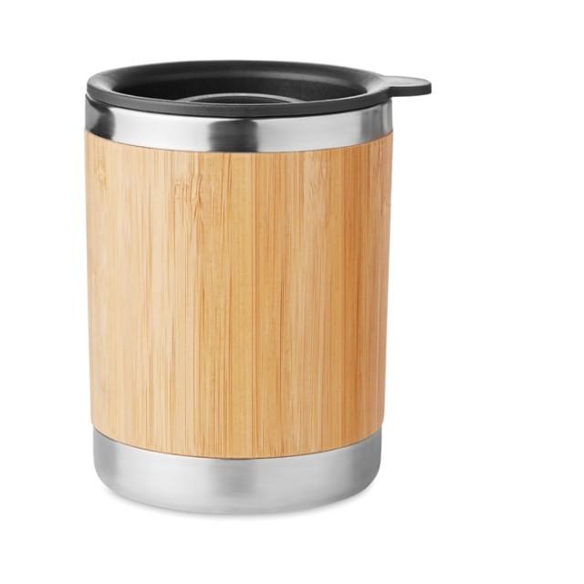 Vasos de viaje personalizados madera