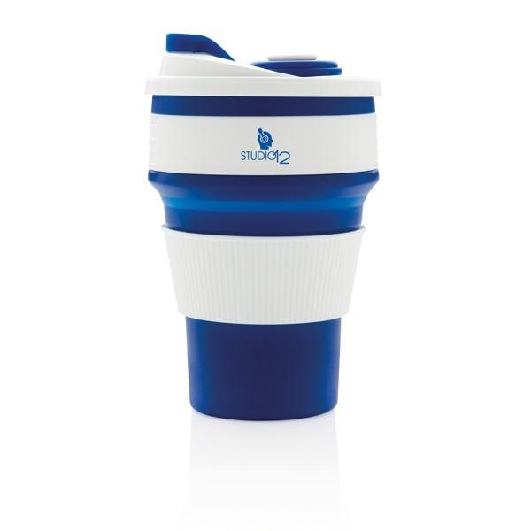 Vasos take away con logo color azul