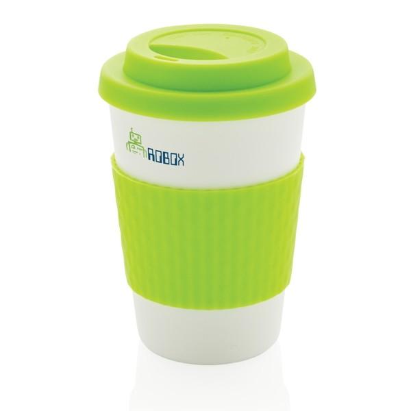 Taza para llevar personalizada color verde