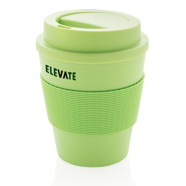 Vasos take away promocionales reciclables color verde