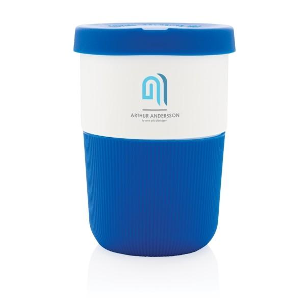 Vasos takeaway personalizados color azul