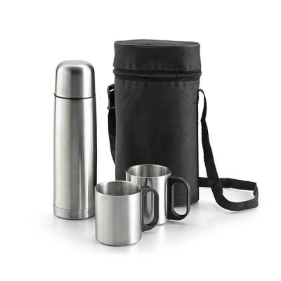 Set de termo promocional con bolsa y tazas (500ml)