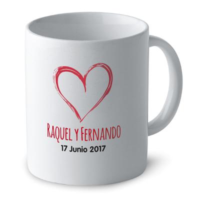 Diseño para tazas de boda Heart