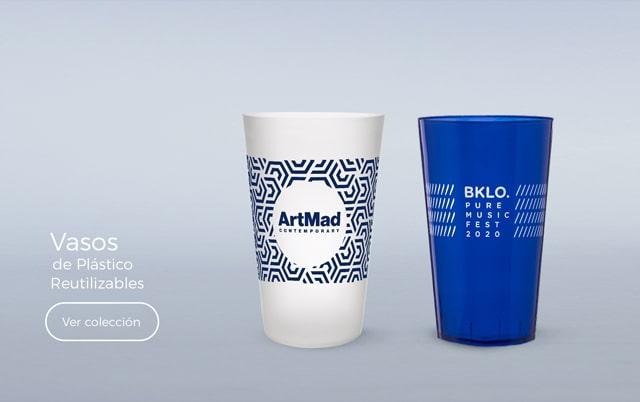 vasos personalizados de plástico