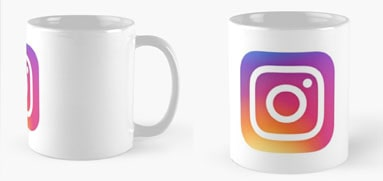 Tazas publicitarias con logo degradado Instagram