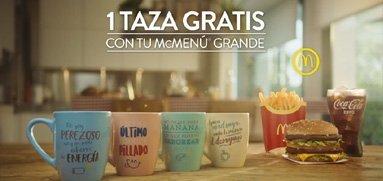 Campaña de tazas de merchandising de Mc Donalds