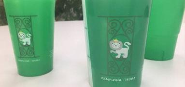Vasos personalizados reutilizables con logo