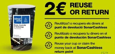 Vasos publicitarios reciclables para ferias y eventos